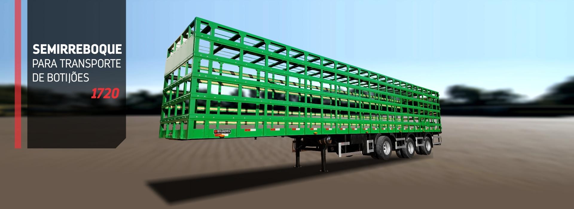 Semirreboque  para transporte de butijoes